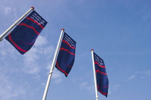 Conische Vlaggenmasten met draaitop