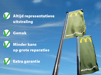 vlaggenmast onderhoud reparatie